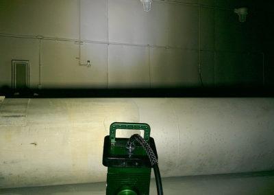 blasting & painting, blast & paint, The BRICK™, Explosion proof area light, blast room, led area light, paint booth lighting, brick light, 9610 brick, 9610 LED, explosion proof led light, KICK-IT TOUGH™, LED Safety Lights, confined space, certified