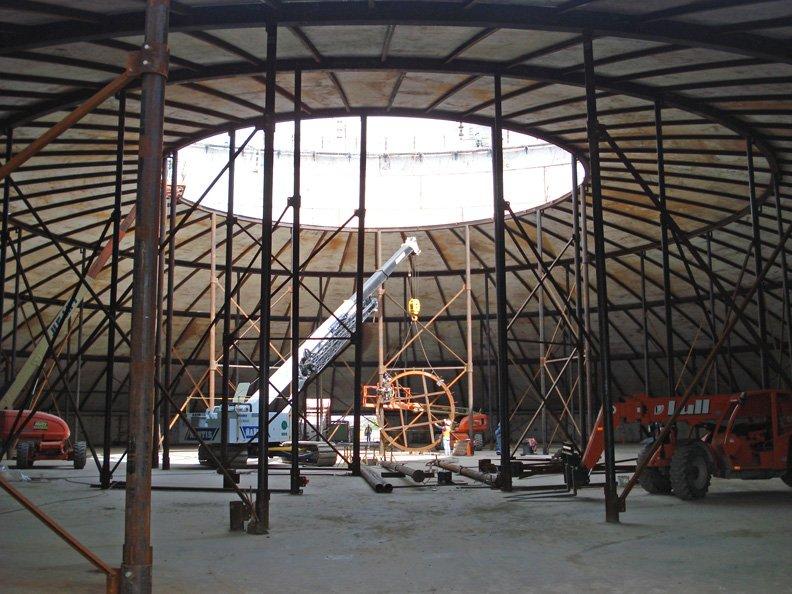 Water Tank Interiors, Construction
