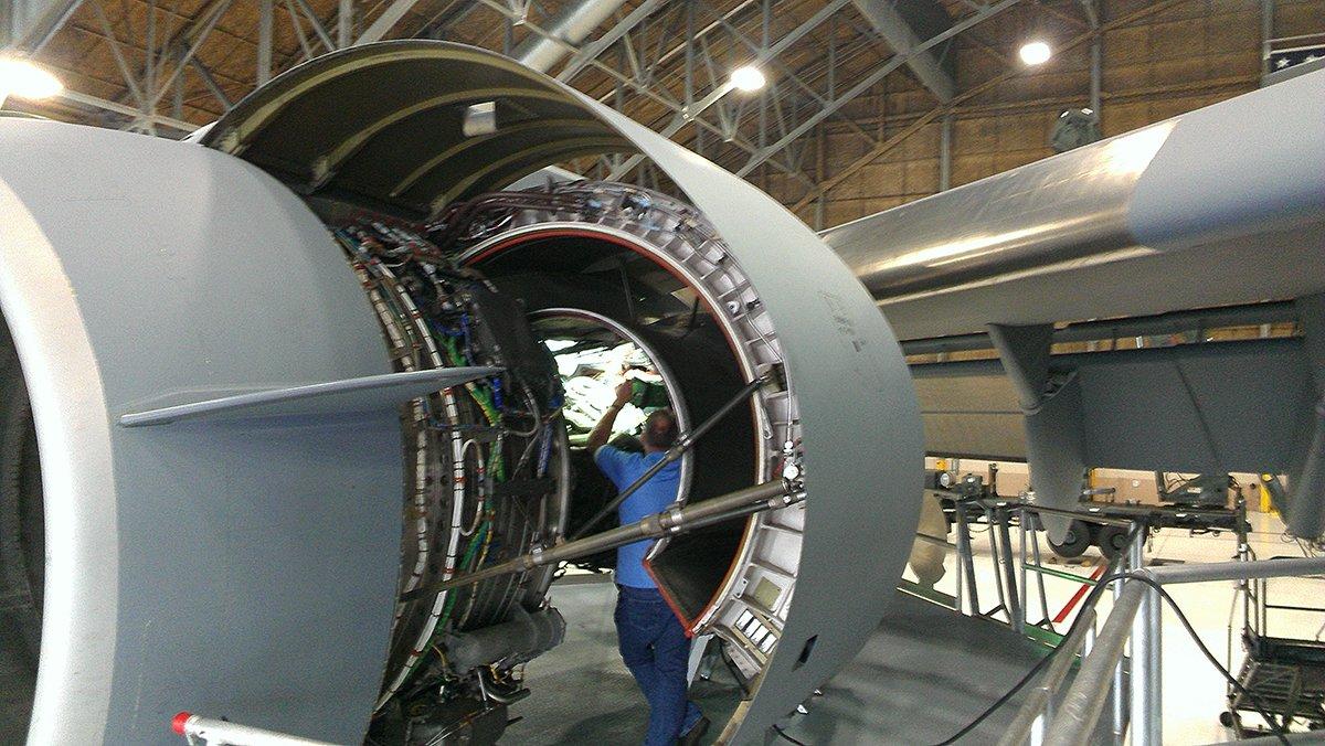 The BRICK™, Explosion Proof Area Light, Jet Engine, Cargo Plane, Inspection, Aviation, Aerospace