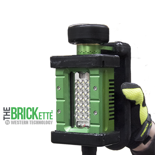 The BRICKette™, 2106, LED, BRICKette, KICK-IT TOUGH™ LED Safety Lights, Portable Explosion Proof LED Work Light, Explosion Proof, Western Technology, Hazardous Location Lighting, C1D1, C2D2, Aircraft Manufacturing, blast & paint lighting, string lights, drop lights, refineries, oil & gas, petro-chemical, string light, drop light, inspection light, inspection lamp, hand lamp, trouble light, rough service light, class 1 div 1, class 1 div 2, class I div 1, class I div 2, wet location lighting, portable, low voltage, LVLE, temporary led lighting
