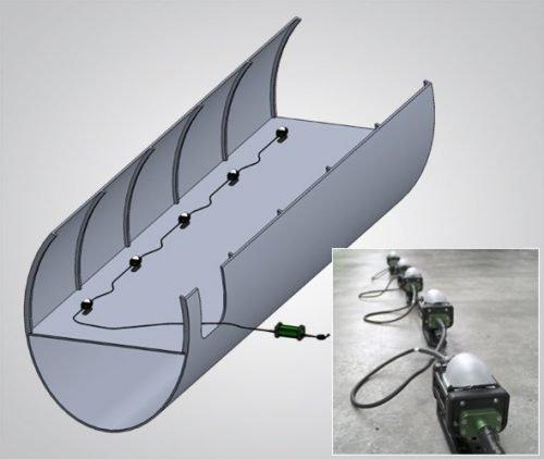 The BRICKette™, Portable Explosion Proof LED Work Light, Stringer Configuration, stringer light, string lights, dome diffuser, drop lights