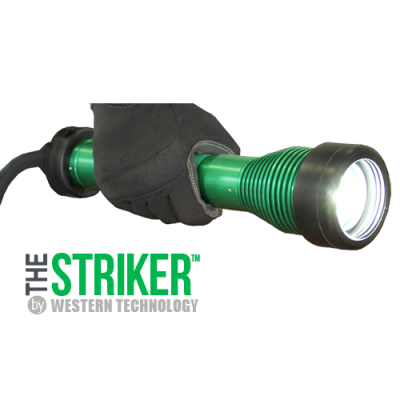 The STRIKER™, 8100, LED, hand-held, explosion proof drop light, hazardous location lighting, portable LED work light, C1D1, C2D2, temporary led lighting, explosion proof inspection work light & drop light