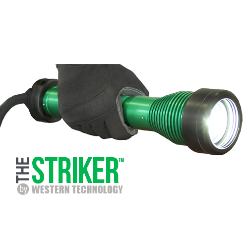 The STRIKER™, 8100, LED, hand-held, explosion proof drop light, hazardous location lighting, portable LED work light, C1D1, C2D2, temporary led lighting, explosion proof inspection work light & drop light