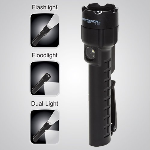 Model 7451 LED – Intrinsically Safe Black Dual-Light Flashlight, Intrinsically Safe Dual-Light Flashlight, flashlight, dual-light flashlight, nighstick, intrinsically safe flashlight, intrinsically safe lights, LED Work Light, portable LED work light, portable led light, battery-powered, cETLus, ATEX, IECEx, MSHA, Black
