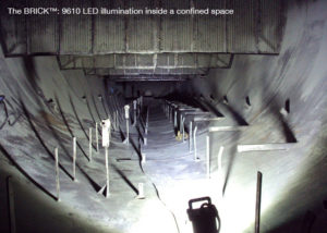 lighting up a confined space