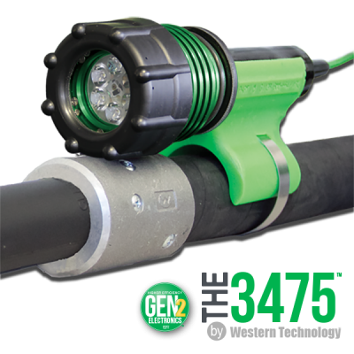 gen 2, 3475-80, The 3475, The 3475LED, The 3475 LED, 6 LED, No-Air, Polyurethane-wrapped Aluminum, Blast Light, KICK-IT TOUGH™ LED Safety Lights, KICK-IT TOUGH™ LED Blast Light, LED Blast Light, abrasive blast light, sandblasting light, blast hose light, 6 LEDs, no-air blast light