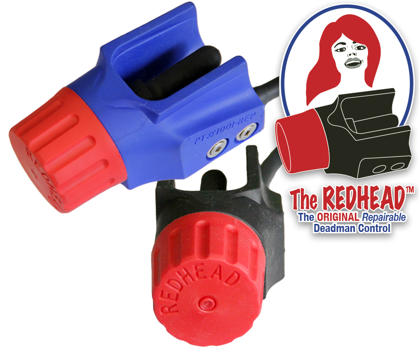 The REDHEAD™ Series, The Original, Repairable, 2 & 3 Wire Options, depairable deadman controls, deadman controls, deadman control switches, deadman switch, electric deadman switch, 2-wire, 3-wire, Repairable Deadman Controls