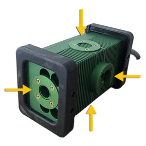 The BRICK®, 9610 BRICK, Mounting Options, 4 Mounting Locations, brick light, 9610 LED, Portable Explosion Proof Area Light, explosion proof, LED, Hazardous Location Lighting, Portable LED Work Light, C1D1, C2D2, Class 1 Div 1, Class I Div 1, Class 1 Div 2, Class I Div 2, Class 2 Div 1, Class II Div 1, Class 2 Div 2, Class II Div 2, KICK-IT TOUGH™ LED Safety Lights, Work Light, Wet Location, portable, paint booth lighting, Type 6P, LED Work Lights, LED work light, Explosion Proof Light, explosion proof lights, Explosion Proof LED Light, Explosion Proof lighting, Explosion Proof LED Lighting, portable explosion proof light, Low Voltage, LVLE, mechanical mounting, magnetic mounting, blast & paint, inspection, portable luminary, portable luminaire, 36 VDC, 24 VDC, 12 VDC