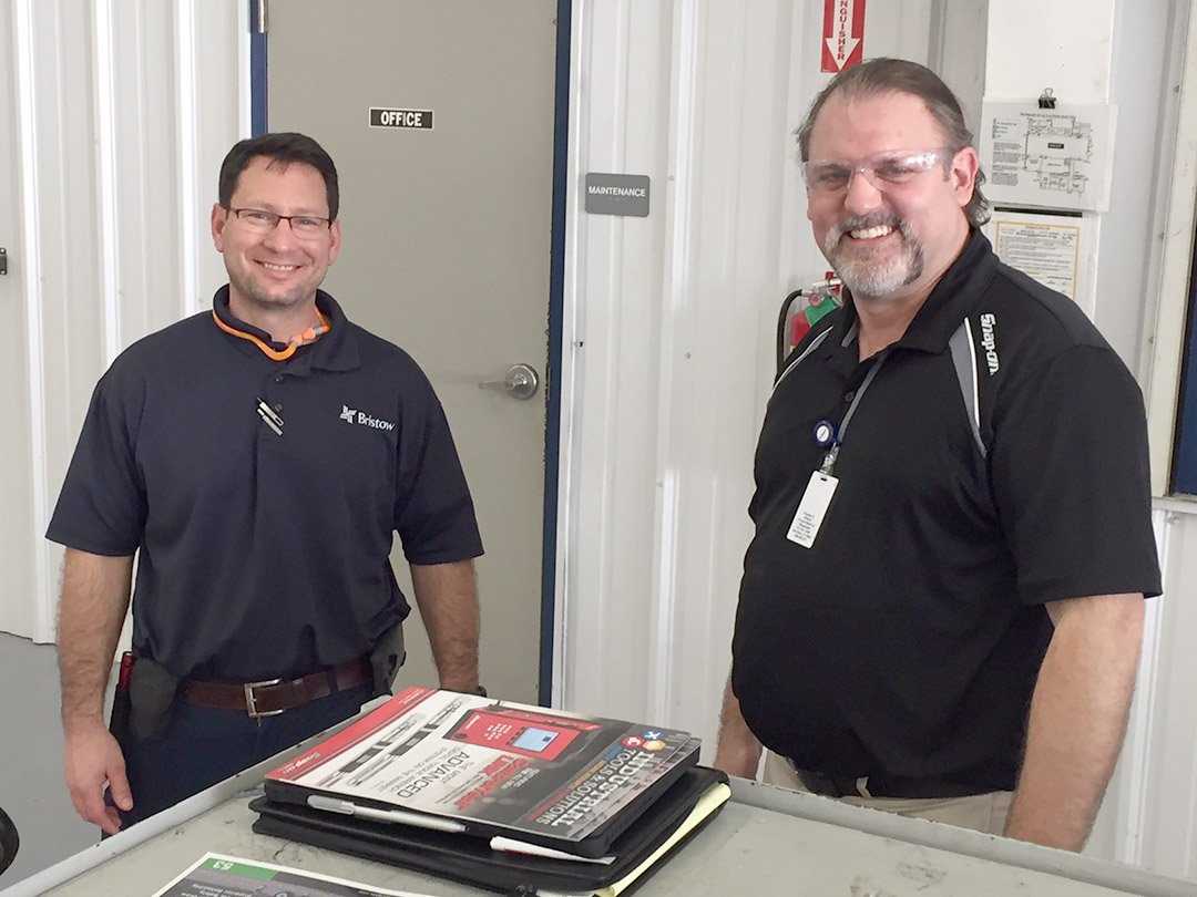 Kevin Craig of Snap-On introducing Western Technology to Bristow Aviation