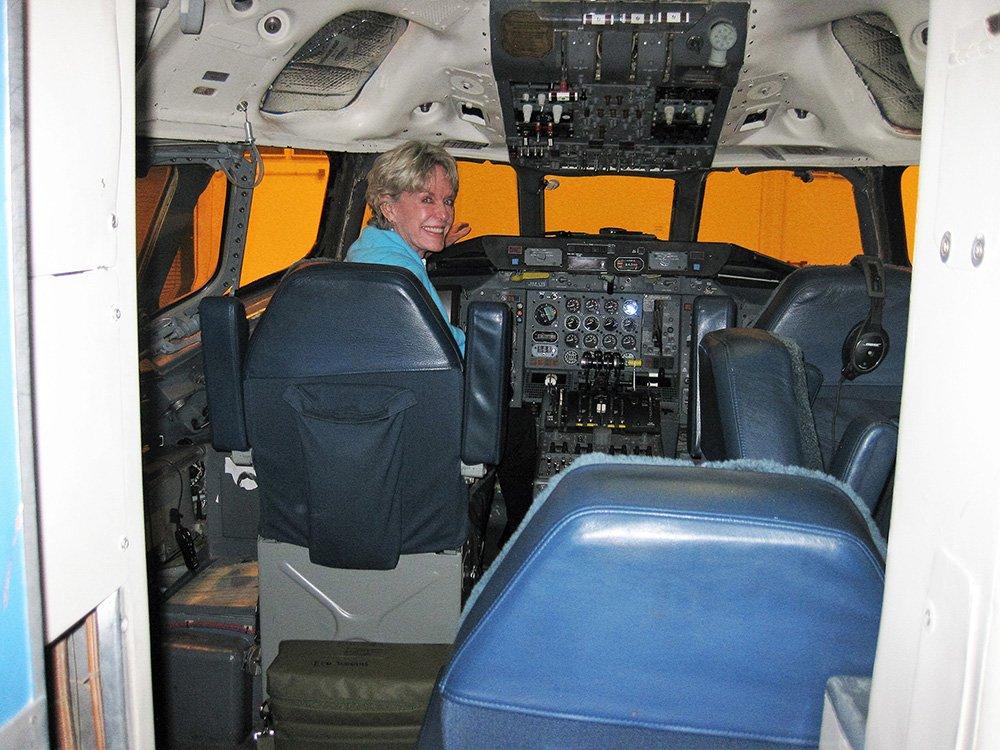 Lynn Sitting in the Cockpit