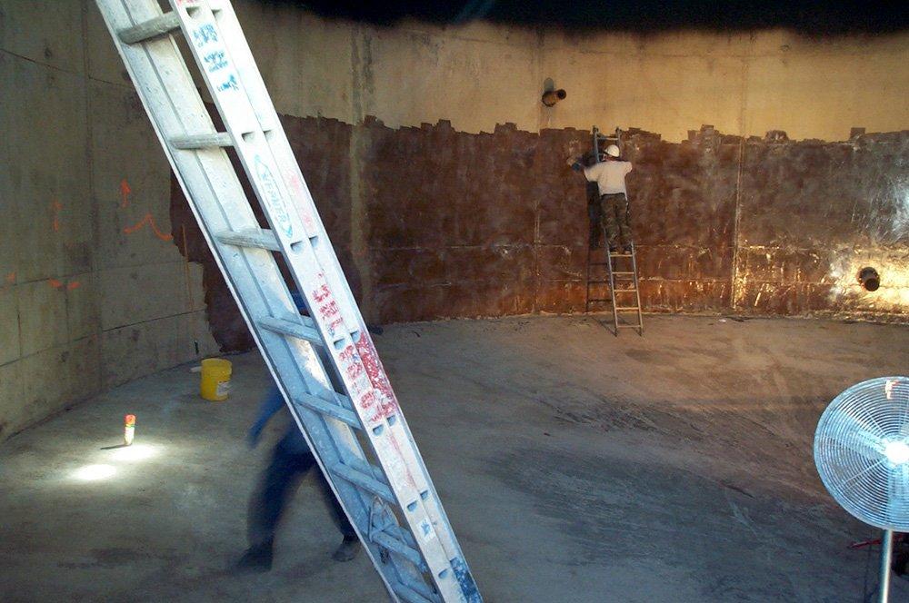 resurfacing, blasting & painting, blast & paint, blasting & paint lighting, confined space, lighting, tank lighting, inspection lighting