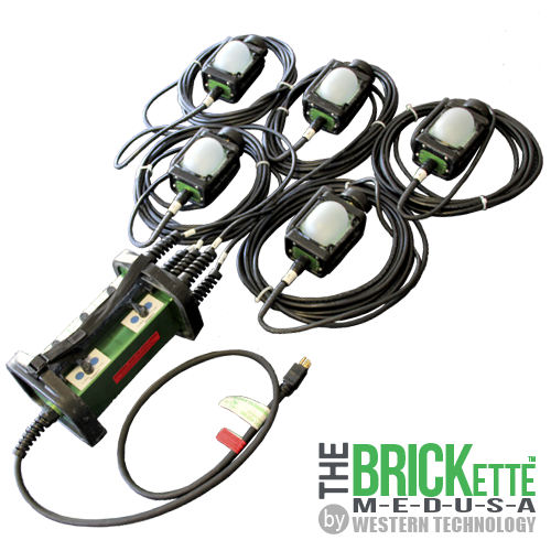 The BRICKette™, BRICKette, 2016 brickette, LED, explosion proof, work light, string light, stringer, explosion proof string light, string work light, Western Technology, hazardous location lighting, portable hazardous location lighting, aviation work lights, aircraft maintenance, inspection lights, class I, class 1, div 1, division 1, class I div 1, class 1 div 1, job site lighting, Explosion Proof LED String Light, medusa, temporary led lighting