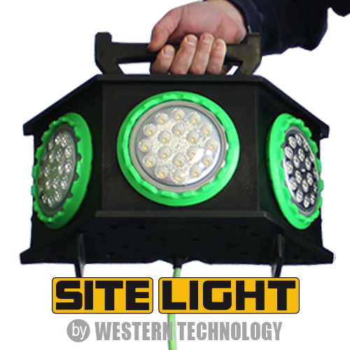 site light, 4100 LED, ordinary location, temporary job site, portable work light, 3 directional wide area light