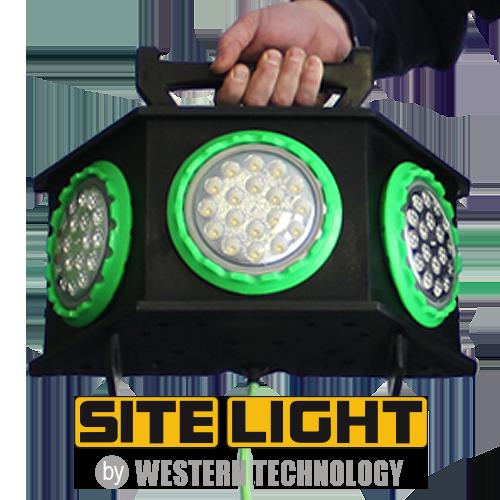 SITE LIGHT in Hand w/ Logo