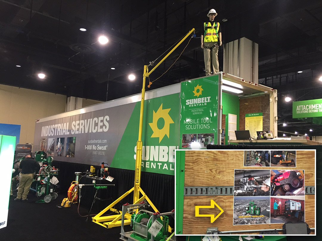WT's Explosion Proof Lights on display in SB's Industrial Services Trailer