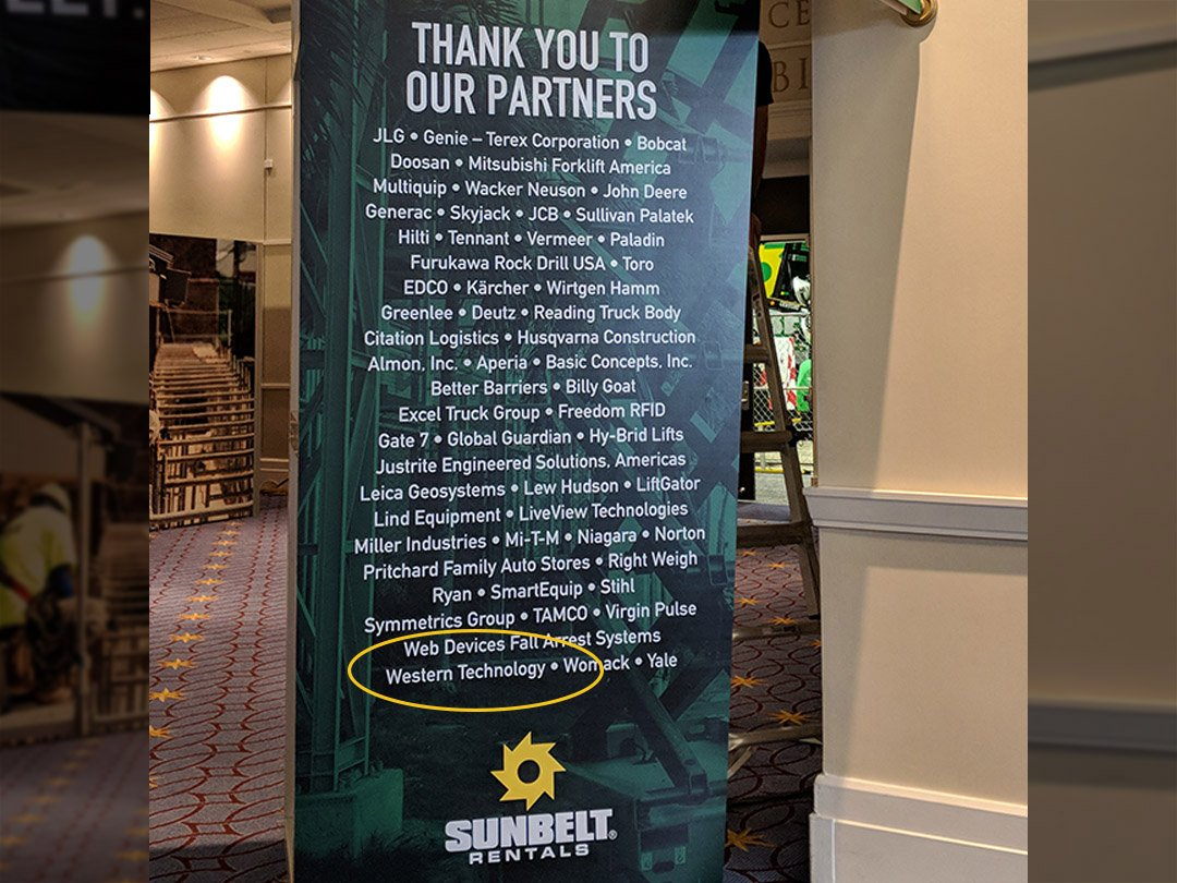 Listed on the Thank You Banner