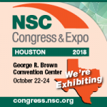 NSC, congress & expo, houston, 2018, we're exhibiting, October 22-24