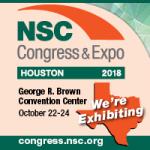NSC, congress & expo, houston, 2018, we're exhibiting, October 22-24