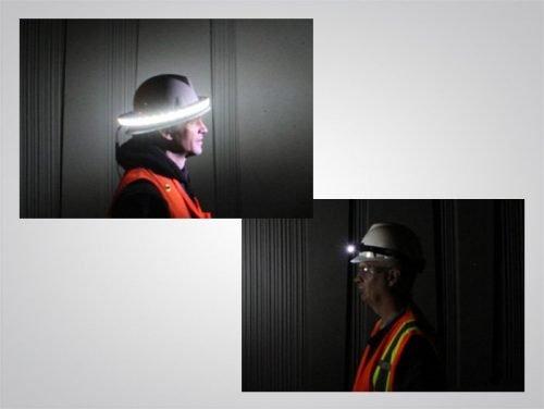 LED hard hat light, 7710, halo, headlamp, task light, personal safety