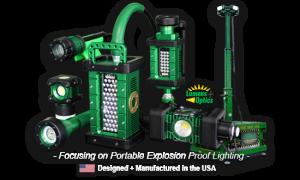 kick-it tough, led safety lights, KICK-IT TOUGH™ LED Safety Lights, KICK-IT TOUGH™ Series, portable explosion proof lights, abrasive blast light, portable led work lights