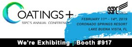sspc, 2019, coatings +, coatings+, conference, expo, we're exhibiting, booth #917, fl, western technology, inc.