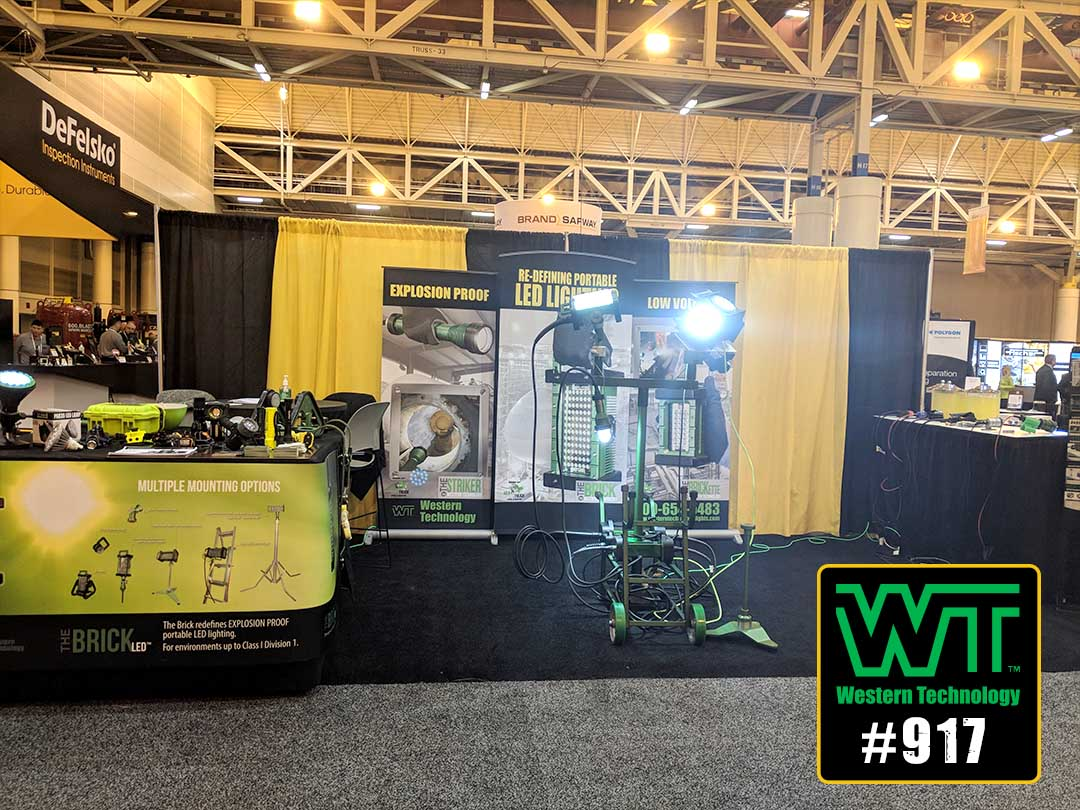 sspc 2019, coatings+, 2019, trade shows, expos, conferences, tradeshows, western technology, inc., portable led work lights, explosion proof, work lights, temporary work lights, exhibitor, booth #917