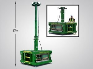 BRICK Skid, skit tower, zero emissions, portable, explosion proof, spark free construction, light tower