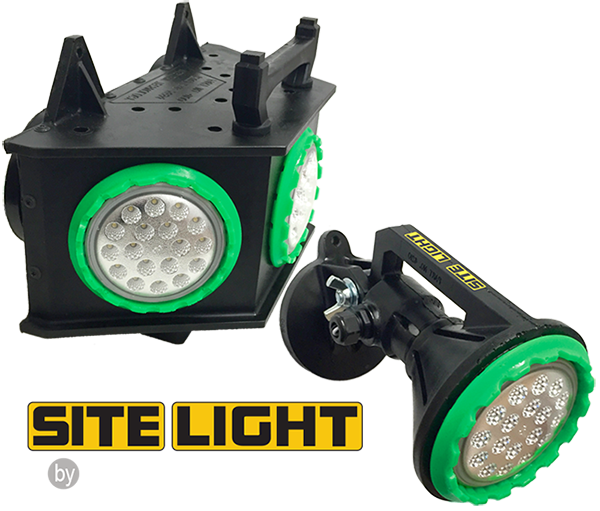 SITE LIGHT™, site light, series, 4100, 4100LED, 4210, 4210LED, temporary jobsite lighting, job site, ordinary location lighting, portable LED work lights