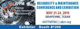 we're exhibiting, afpm, american fuel & petrochemical manufacturers, reliability & maintenance conference and exhibition, 2019, Gaylord Texan Convention Center, grapevine, tx, may 21-24, exhibitor, booth 1200