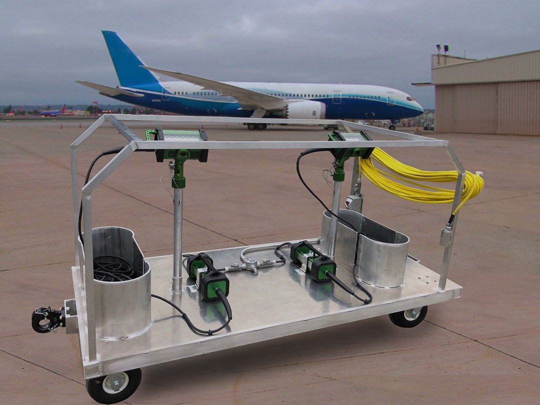 BRICK Cart™ | Portable Light Cart (2 BRICKs) - for flightline application