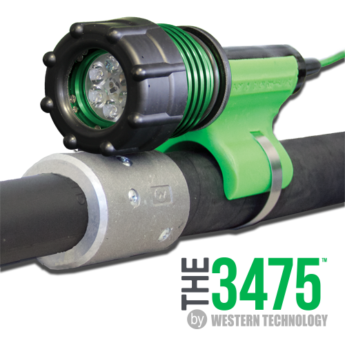 The 3475, The 3475LED, The 3475 LED, 6 LED, No-Air, Polyurethane-wrapped Aluminum, Blast Light, KICK-IT TOUGH™ LED Safety Lights, KICK-IT TOUGH™ LED Blast Light, LED Blast Light, abrasive blast light, sandblasting light, blast hose light, 6 LEDs, no-air blast light