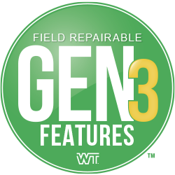 gen 3, logo, field repairable, cable replacement, features