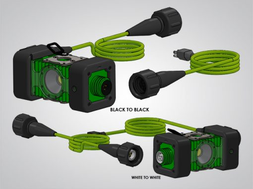 model 4400, LINKaLIGHT, link a light, led stringer light system, led, portable, work light, ordinary location, temporary job site light, string work light, floodlight, area light, 4400, led wide area stringer light system, color coded end to end connections