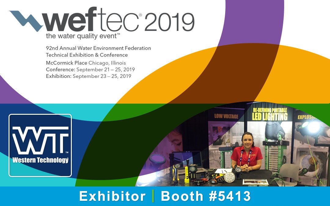 western technology, exhibitor, booth #5413, weftec 2019, world's leading water quality conference & exhibition, McCormick Place, Chicago, Sept. 23-25, 2019