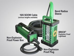 a-model, BRICK, gen 3, system, 9610A, 9610A_X, portable, explosion proof, LED, area light, tank light, hazardous location light, portable LED work light