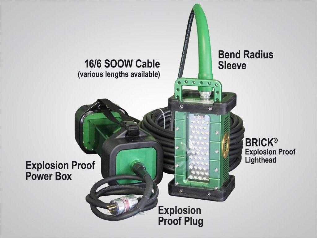 c-model, BRICK, gen 3, system, 9610C, 9610C_X, portable, explosion proof, LED, area light, tank light, hazardous location light, portable LED work light
