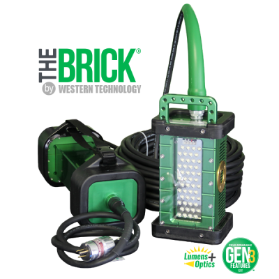 C-model, BRICK, gen 3, system, 9610C, 9610C_X, portable, explosion proof, LED, area light, tank light, hazardous location light, portable LED work light, portable work light, temporary job site lighting, hazardous locations, field repairable, cable replacement, features, green bend radius sleeve, explosion proof tank lighting, inspection, portable luminary, portable luminaire, 36 VDC, 24 VDC, C1D1, C2D2, Class 1 Div 1, Class I Div 1, Class 1 Div 2, Class I Div 2, Class 2 Div 1, Class II Div 1, Class 2 Div 2, Class II Div 2, KICK-IT TOUGH™ LED Safety Lights, Work Light, Wet Location