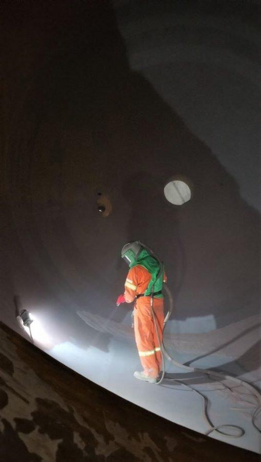 2106, BRICKette, portable, explosion proof work light, portable explosion LED work light, vessel, abrasive blasting