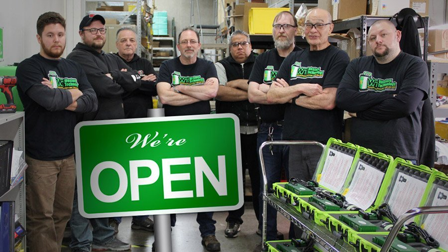 open sign, western technology, shop, team, BODYLights, we're open, open