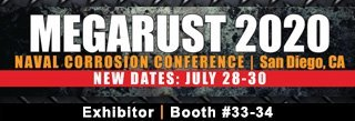 megarust, mega rust, 2020, exhibitor, booth 33-34, naval corrosion conference, san diego, ca, western technology, inc.