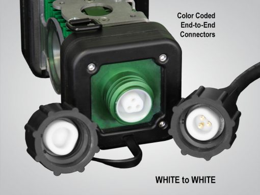 model 4400, LINKaLIGHT, link a light, led stringer light system, led, portable, work light, ordinary location, temporary job site light, string work light, floodlight, area light, 4400, led wide area stringer light system, color coded end to end connections, white