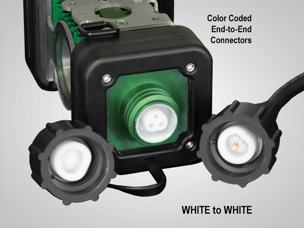 model 4400, LINKaLIGHT, link a light, Industrial LED String Light System, led stringer light system, led, portable, work light, ordinary location, temporary job site light, string work light, floodlight, area light, 4400, led wide area stringer light system, color coded end to end connections, white