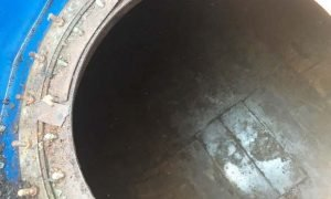 underground fuel storage tank, fuel storage tank cleaning, after