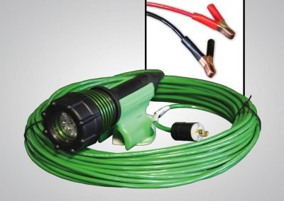 The 3475, 3475-80, 3475, gen 2, abrasive blast light, led, no power box, no power supply box, optional cord lengths, plugs, battery clamps